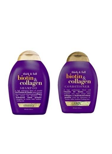 Organix Biotin&Collagen şampuan 385 ml + Saç Kremi 385 ml Renksiz